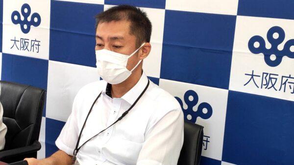(写真)大阪府公民戦略連携デスク 元木 チーフプロデューサーによる設立の挨拶