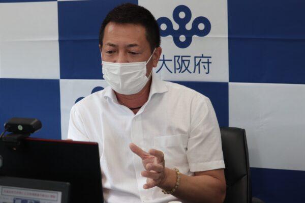 (写真) 大阪府公民戦略連携デスク 吉澤 エグゼクティブディレクターによる基調講演「持続可能な自治体経営のための公民連携とは」